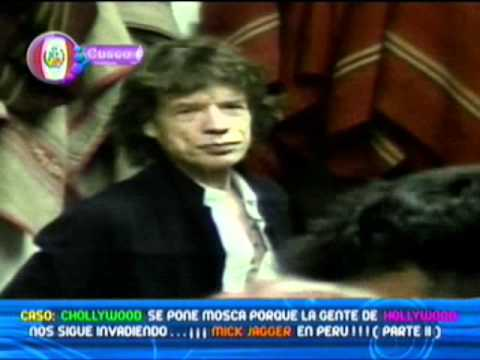 Video: Mick Jagger a su llegada al Cusco