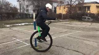 "Nimbus 36"" Unicycle first ride"