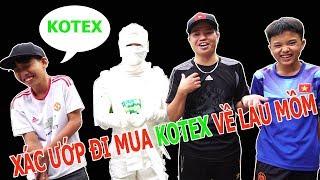 TEAM SỬU NHI - Cười Rách Mồm Với Xác Ướp Ai Cập Đi Mua BVS Kotex Về Lau Mồm   DMP Vlogs