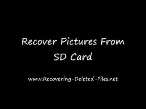 Recover Pictures From SD Card In A FEW Clicks