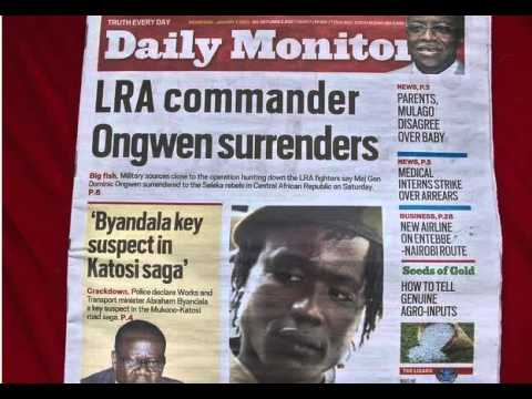 BBC News-Uganda LRA commander Dominic Ongwen 'to be sent to ICC'