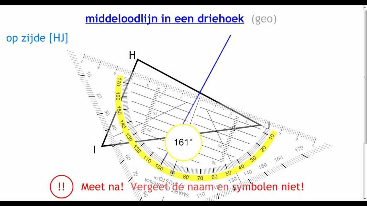 Middelloodlijn in een driehoek geo youtube - Hoe sluit je een pergola ...