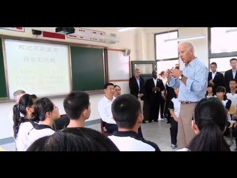 The VP in Asia: Dropping by a classroom in Dujiangyan