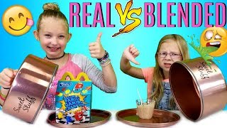 REAL FOOD VS BLENDED FOOD CHALLENGE!!!
