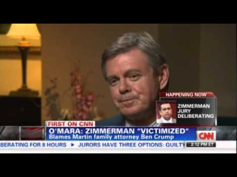 O'Mara slams Ben Crump - Zimmerman never would have been charged if Crump had not gotten involved