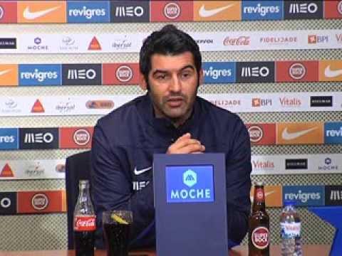 Futebol: Paulo Fonseca (antevisão do FC Porto-Nacional, 10.ª jornada da Liga)