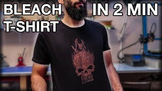 Brand Custom T-Shirt With Bleach. Fast And Easy!