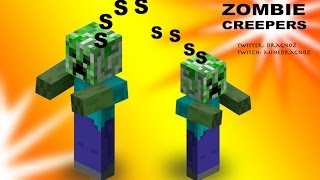 Zombie Creepers of boooomm in Minecraft 1.8 Custom Mobs part 1