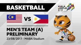 KL2017 29th SEA Games | Men's Basketball - MAS 🇲🇾 vs PHI 🇵🇭 | 23/08/2017