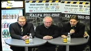 KalPa-Lukko ottelun lehdistötilaisuus