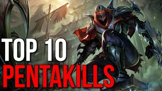 Top 10 1v5 Pentakills 2015 (League of Legends)