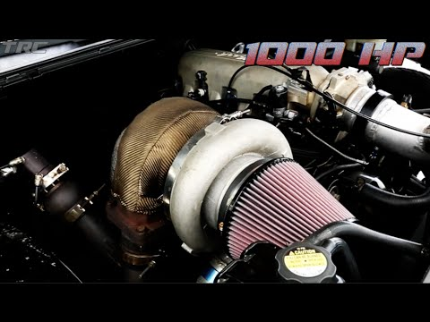 1000HP Chevy Truck battles Twin Turbo Coyote Mustang - street racing