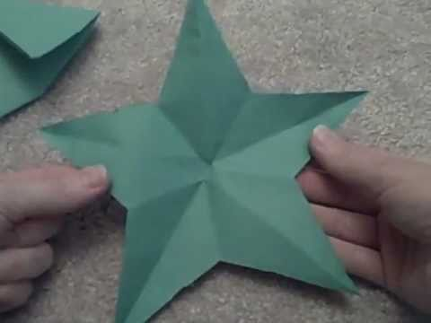 cut a perfect star from paper with just one cut youtube