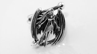 Handmade angel ring silver
