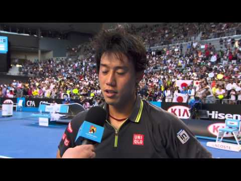 Kei Nishikori interview (3R) - Australian Open 2015