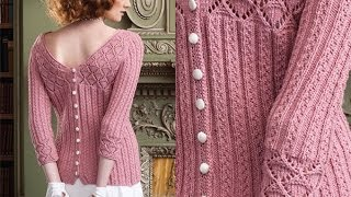 #4 Back Button Pullover, Vogue Knitting Spring/Summer 2010