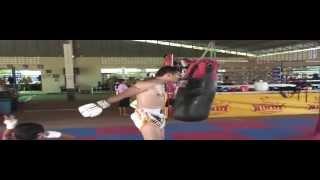 Saiyok Pumpanmuang World Champion Training at Sinbi Muay Thai