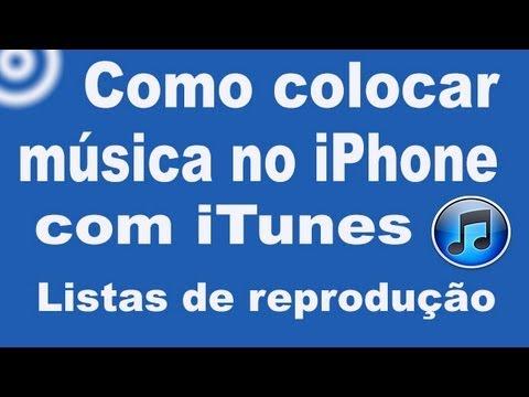 Como colocar música no iPhone com iTunes 11.1.1 (listas de reprodução)