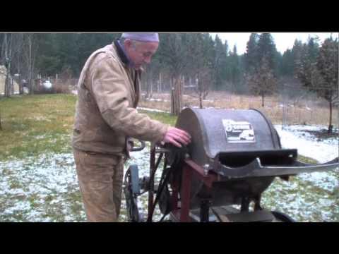 Pedal powered threshing machine