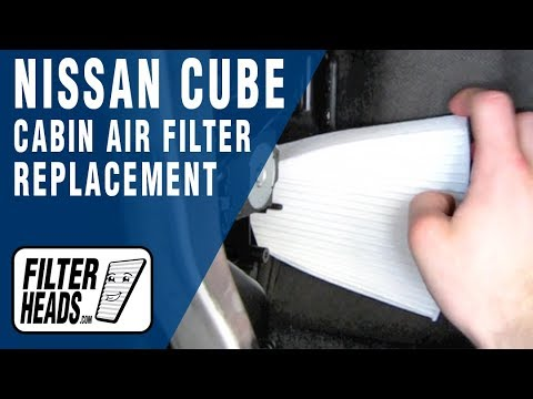 Cabin air filter replacement- Nissan Cube