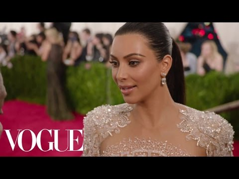 Kanye West and Kim Kardashian West at the Met Gala 2015 | China: Through the Looking Glass