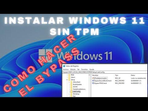 INSTALAR WINDOWS 11 SIN TPM USANDO BYPASS PARA EQUIPOS NO COMPATIBLES