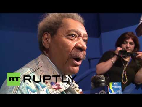 USA: Boxing's Don King backs Trump to 'tear this system apart'