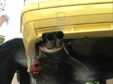 BMW M3 e36 3.2L FULL exhaust SuperSprint RACE