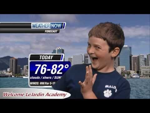 Le Jardin Academy gets a lesson in weather with Dan Cooke
