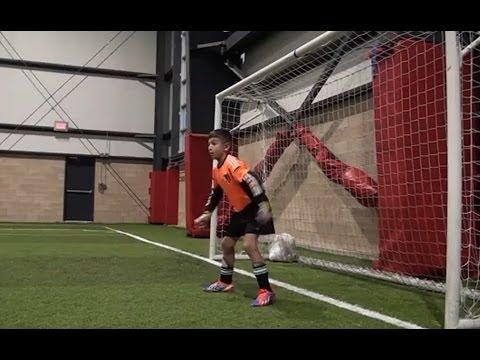 Amazing 9 year old soccer goalkeeper! Dino Bontis