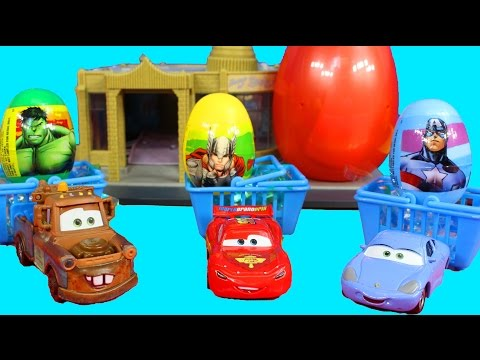 Disney pixar Cars Lightning McQueen & Mater Sally go on an Easter Egg Hunt