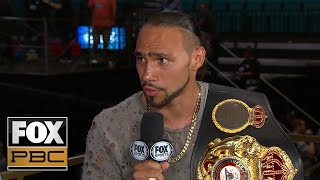Keith Thurman joins PBC on FOX: 'I'm living the dream, can't take that away from me' | PBC on FOX