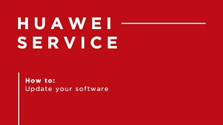Huawei P30 Pro - How to update your software