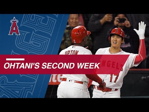 Shohei Ohtani throws near perfecto and clubs a homer in second week