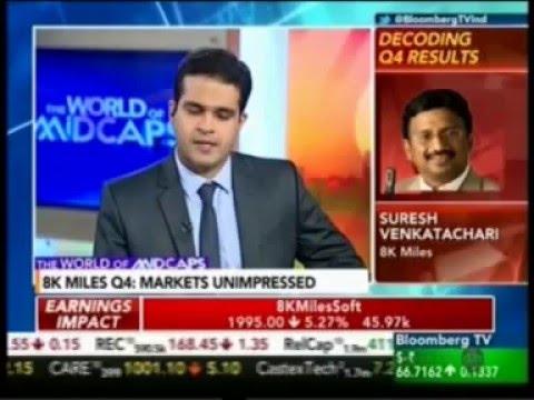 Q4 results 2016 - Mr. Suresh.V - Bloomberg TV - 8K Miles