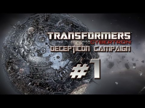Transformers War for Cybertron Walkthrough - Decepticon Campaign Part 1 w/ Commentary - Lord Megatron
