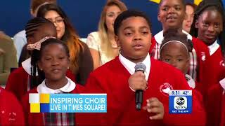 Baltimore's Cardinal Shehan School Choir performs live on GMA