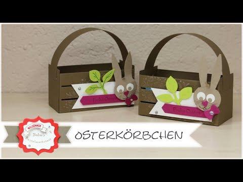 Osterkörbchen und Tipp für Osterhasenstanze mit Produkten von Stampin´Up! - Step by Step Anleitung