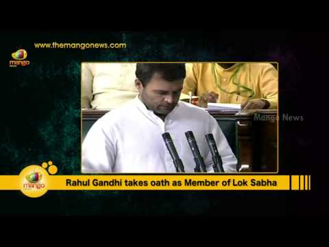 Rahul Gandhi Takes Oath as the Member of 16th Lok Sabha