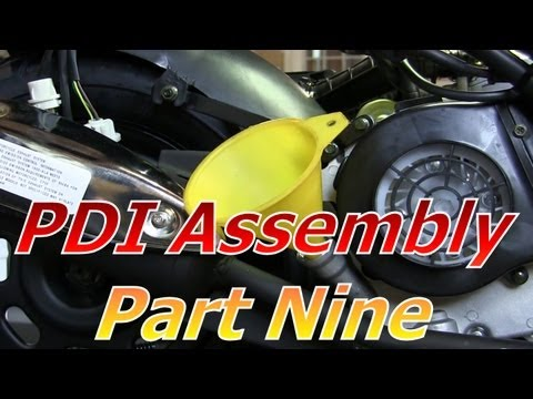 TaoTao ATM50-A1 Chinese Scooter PDI Assembly Part 9 : Engine And Gear Oil Change