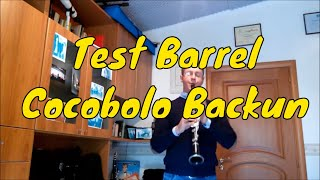 Sabato Morretta Test barrel for Clarinet Backun cocobolo