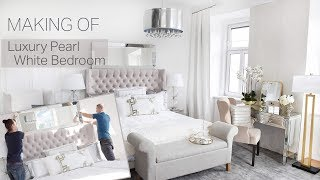 MAKING OF Luxury Bedroom Luxus Schlafzimmer Pearl White Pure Velvet Roomtour Makeover