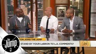 Gary Payton shares how Bronny Jr. factors into LeBron James' free agency decision | The Jump | ESPN
