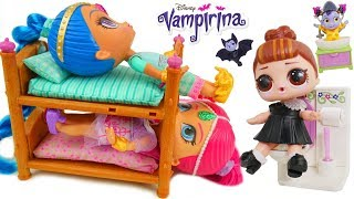 Shimmer Shine + LOL Surprise Dolls Bedtime Routine