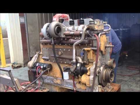600HP Cummins KTA19 Diesel Engine First Run