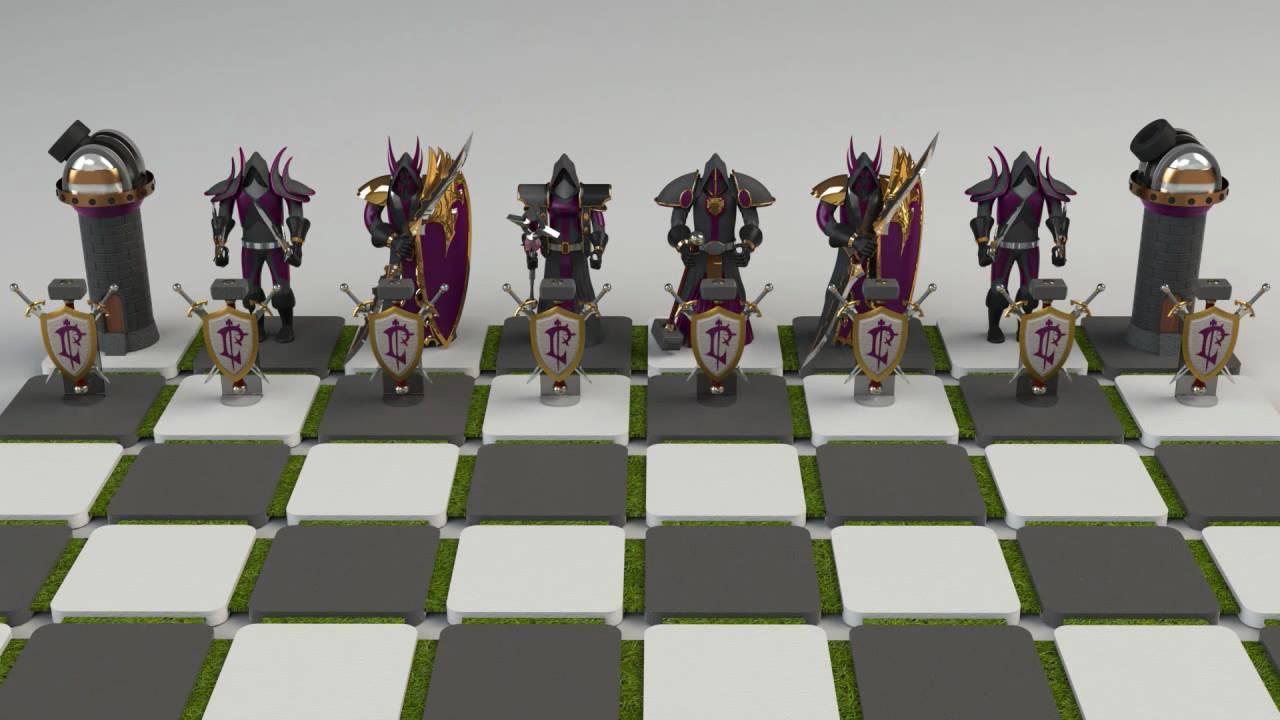 Warcraft Chess Set - YouTube