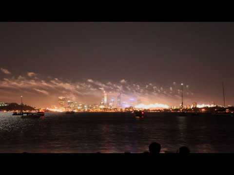 Timelapse Fireworks for Australia Day 2010 filmed from the Applecross foreshore in Perth, WA 26th Jan 2010. Shot on a Canon 5d Mark ii. Edited on a Mac. Than...