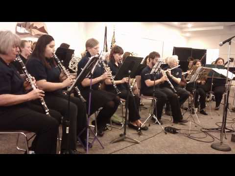 Mile High Community Band plays at Red Rocks Community College on 4-17-2014