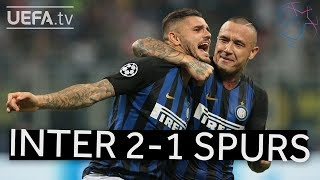 INTERNAZIONALE 2-1 TOTTENHAM UCL HIGHLIGHTS