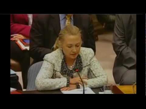 Secretary Clinton Delivers Remarks on Middle East Peace and Security at the United Nations